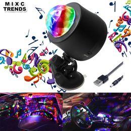 2019 luz de flash mp3 MEZCLA TENDENCIAS 6 Cambio de color Coche DJ Música Luz Mini RGB LED MP3 Disco Crystal Magic Ball Stage Lámpara de flash estroboscópico Con enchufe USB luz de flash mp3 baratos