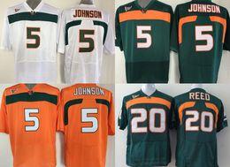2ebc3483717 miami football jerseys 2019 - Factory Outlet- NCAA Miami Hurricanes 5  JOHNSON 20 Ed Reed