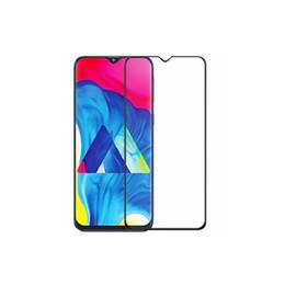 Wholesale Protector de pantalla de cristal templado Samsung A10 A20 A30 A40 A50 A70 D con impresión de seda negra y envío gratis