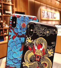 Huawei handys chinesisch online-Neuer Handyfall der chinesischen Art für iPhone XS Huawei P20 Silikon VIVOX23 Quaste R17 Samsung