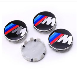 Cappelli centrali 68mm online-Distintivo per mozzo centrale auto con emblema della ruota di automobile di potenza m 68mm per BMW