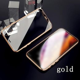 orange metal case iphone plus Coupons - For iphone xs max phone case Second generation double-sided glass magnetic metal frame phone case Support 2PCS delivery   wholesale