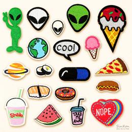 2019 coudre un patch cool Alimentaire Sushi Alien COOL DIY Badge Patch Brodé Applique Couture Vêtements Autocollants Vêtement Vêtements Accessoires promotion coudre un patch cool