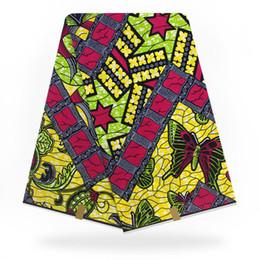 Африканский SUPER реальный воск печатает на блоке истинный голландский воск в голландском стиле Анкара набивная ткань 6 ярдов хлопок дизайн H9031501 от