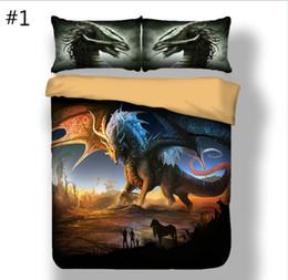2019 edredons de marfim 3 peças estilo americano e europeu impressão dinossauro conjunto de cama uma capa de edredão e dois travesseiro cobre seis tamanhos de cama cobre têxteis lar