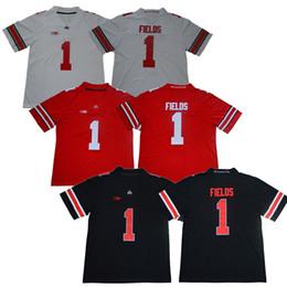 dfb7ff0361 Maglia da football americano Justin Fields College della Ohio State  Buckeyes # 1 Uomo Rosso Bianco Nero Spedizione gratuita Nome e numero  cuciti sconti ...