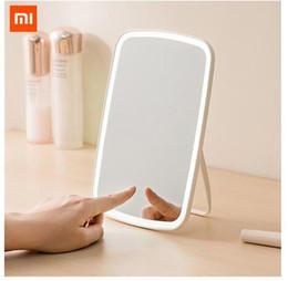 Deutschland Original Xiaomi Mijia Intelligente tragbare Kosmetikspiegel Desktop LED-Licht tragbare Faltleuchte Spiegel Schlafsaal Desktop Versorgung