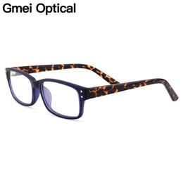 15fa010b37 Gmei rectángulo óptico borde completo marcos de los vidrios de las mujeres  de plástico para la miopía lectura anteojos recetados anteojos de los  hombres ...