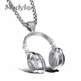 Модиль мода дизайн мужчины ювелирные изделия шайба стиль Box звено цепи 316L стали музыка карнавал наушники Ожерелье для мужчин от