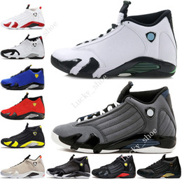6403aa791e5b Cheap New 14 14s mens Basketball Shoes Desert Sand DMP Last Shot Indiglo  Thunder Red Suede Oxidized Grey White men Sports Sneakers designer