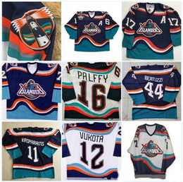 pullover vintage nhl Sconti Maglia NHL New York Islanders # 16 Ziggy Palffy Pescatore Darius Kasparaitis JohnTavares Korolev Brent Severyn Berard Maglia vintage da hockey