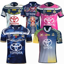 0d82c227b4e NEW 2018 2019 2020 Cowboy RUGBY jersey 18 19 20 Top Thailand quality Home  Away NRL TELSTRA RUGBY home away Shirts S-3XL