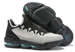 Scarpe da uomo lebron di basket online-New mens Lebrons 16 XVI scarpe da basket basse in vendita retro BHM Oreo lebron james 3 scarpe da ginnastica taglia 7-12