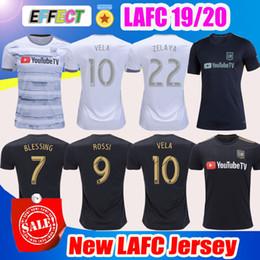 Nueva llegada 2019 LAFC Carlos Vela camisetas de fútbol 18/19/20 Inicio X ZELAYA ROSSI Los Angeles FC Black Parley Primeras camisetas de fútbol BLANCO desde fabricantes