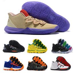 zapatos deportivos brasil Rebajas 2019 de alta calidad Barato 5 PE Taco Concepts x Ikhet Brazil Neon Blends Black Magic Calzado de baloncesto para hombre para 5s zapatillas deportivas Tamaño7-12