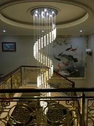 Escaleras luces lámpara colgante largo lightLED villa espiral girar línea de pesca paquete personalizado burbuja columna de cristal sala de estar LLFA desde fabricantes