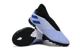 2019 scarpe indoor messi 2019 Uomini Nemeziz 19.3 senza lacci FG TF Scarpe da calcio caldo Messi Chaussures Indoor Soccer Shoes Cleats sconti scarpe indoor messi