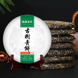 Зелёный чай онлайн-357g Сырье Пуэр чай Юньнань Древнее дерево зеленый пуэр чай Органический Pu'er старое дерево зеленый Pu'er Природные Пуэр чай торт фабрика прямых продаж