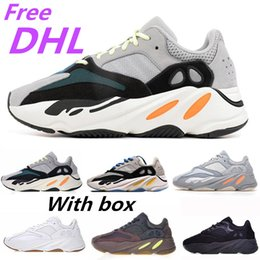 competitive price ec23b 5db23 Adidas Boost 700 V2 DHL LIBERO NUOVO 700 Runner 2019 Nuovo Kanye West Mauve  Wave Uomo Donna Athletic Best Quality 700s Sport Running Sneakers Scarpe ...