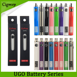 Evod vs ego on-line-Authentic EVOD UGO 650MAH 900MAH EGO 510 Bateria 8Colors Micro Áspero Usb Charge Pass embora E-Cig Pen Vape Baterias vs Visão Spinner Law