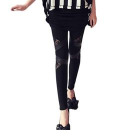 Yeni Sıcak Seksi Kadınlar İnce Dantel PU patchwork Streç Tayt Esneklik Kalem Pantolon Sıska kadın Kapriler Pantolon ücretsiz boyut # 25 supplier pu hot pants nereden pu sıcak pantolon tedarikçiler