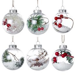 decorazioni in baubles Sconti Christmas Transparent Ball 6 Styles Romantic Xmas Tree Pendant Hanging Decorazioni Trasparente Bauble Ornamento Decorazioni natalizie OOA6007
