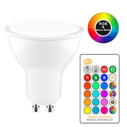 Canada 8W LED RGB Lumières GU10 RVB LED Lampes 110V 220V Ampoule LED Haute Puissance Lampada 16 Couleur Variable Avec Télécommande IR cheap ir light bulbs Offre