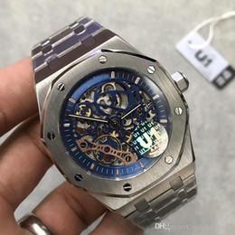 идеальный сапфир Скидка 2019 топ мужские часы Sapphire Glass 41MM совершенный скелетон многоцветный автоматический механизм с оригинальным ремешком качества часы