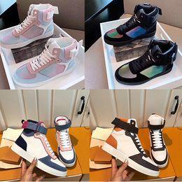 zapatos de baloncesto para adultos Rebajas Rivoli Trainer Boots Zapatillas de baloncesto de diseñador para mujer y hombre Zapatillas altas de colores Zapatillas de deporte de cuero antideslizantes para adultos Tamaño 35-46