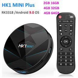 Rockchip RK3318 HK1 MINI Plus Smart TV Box Android 9.0 4 ГБ 64 ГБ 1080p 4K 60fps USB3.0 Google Play Установить приставку от