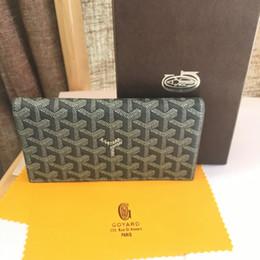 Canada 2019 célèbre marque hommes portefeuilles mode unique pas cher luxe designer femmes portefeuille en cuir dames dames longue bourse avec boîte grise Offre