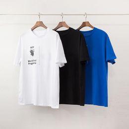 2019 magliette grafiche maniche lunghe uomo Maglietta di estate Mens Stylist maglietta di modo Programma Alimentare Mondiale delle donne degli uomini cotone di alta qualità manica corta da uomo Stylist T Shirt