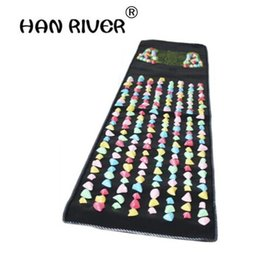 massage blankets Promo Codes - hot sale product sell like hot cakes Foot massage mat the road of health foot massager Color stone massage blanket