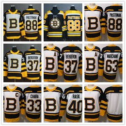 5747237f0 37 Patrice Bergeron 88 David Pastrnak 63 Brad Marchand 33 Zdeno Chara 40  Tuukka Rask Men s Boston Bruins 2019 Winter Classic Hockey Jerseys