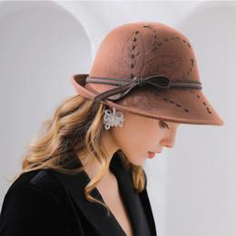 6754090400e5ba Lady Banquet Top Grade Fedora Hat Woman Autumn And Winter Party Formal Hat  Fashion Elengant Irregular 100% Wool Felt Hats