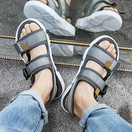 2019 orteil semelle solide GOODRSSON 2019 Rome Chaussures Chaussures de plein air Sandales Boucles À Bout Ouvert Solide Ruban Tendance De La Mode Sandales Semelle En PU Semelle Anti-Slip Confortable promotion orteil semelle solide