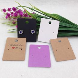 Tarjetas de pantalla de papel online-200 unids 5 * 4 cm Papel Kraft hecho a mano con tarjetas de regalo pendientes de regalo Tarjeta de exhibición de joyería, tarjeta de embalaje