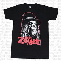 túnicas rojas para los hombres Rebajas Camiseta de algodón fresco camisas de las camisetas de Rob Zombie hombres con el rojo para hombre Negro de manga corta manera de las tapas de cuello redondo T Shirts Tamaño S M L XL 2XL 3XL