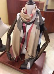 2019 gli scialli d'argento liberano il trasporto Fashion Winter Top 100% Cashmere Luxury Luxury Sciarpa per uomo e donna Designer Large Check oversize Coperte sciarpe Infinity Sciarpe
