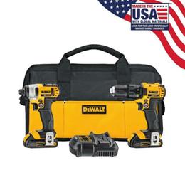 DEWALT XR 2-Tool Kit di utensili elettrici senza spazzola a ioni di litio Max 20-Volt completo Nuovo di zecca da marmi di vetro rotondi fornitori