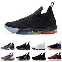 f01e8fe1a5909 2019 Chaussures de basket 16 pour hommes 1 Thru 5 I Promise Oreo FRESH BRED  Baskets de marque griffées blanches et noires Sneakers de sport respirants  ...