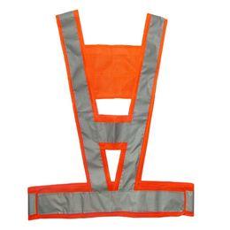 Chaleco reflectante de seguridad en forma de V reflectante para guardapolvos reflectantes de alta visibilidad # 0627 desde fabricantes