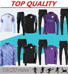 Jogging camisetas on-line-2019 KUN AGUERO futebol camisas terno treinamento de futebol camisola 19/20 STERLING De Bruyne G.JESUS treino de futebol Jogging jaqueta chandal