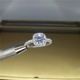 tamaño del anillo topacio amarillo Rebajas 100% de 18 quilates de oro 750Au moissanite anillo de diamante de color D VVS Con certificado nacional MO-00104