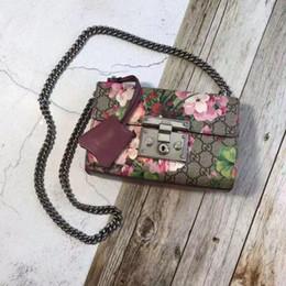 charme libellule rouge Promotion Basketsg fleurs cadenas sac chaîne bandoulière sacs à bandoulière femmes fleur impression sacs à main de haute qualité rabat messager célèbre brand3cd5 #