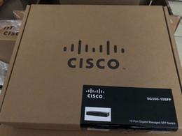 Nouveau commutateur à fibre optique gigabit SFP 100% Cisco SG350-10SFP-K9-CN 10 SFP pour la gestion des données de fret dans un colis unique ? partir de fabricateur