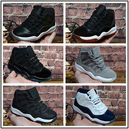 buy popular 95d38 2098c großhandel kinder sneakers Rabatt nike air jordan aj11  Großhandelsjungenmädchen 11 Abschlussballnachtgymnastik-rote  Mitternachtsmarine-Schwarzes