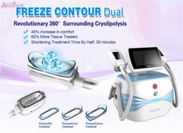 máquinas de perder peso Rebajas NUEVO Freeze Contour DUAL cryo portátil Sistema de enfriamiento peso perder crioterapia Equipo de equipo de belleza