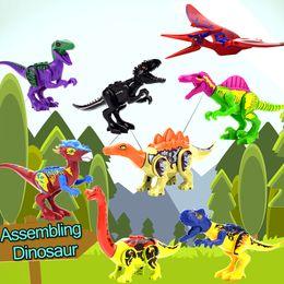 8 Style Coloré Dinosaure Jouets pour Enfants À La Main Assemblée Blocs de Construction Modèle Jouet Éducatif Cadeau Accueil Décoration Party Favors ? partir de fabricateur