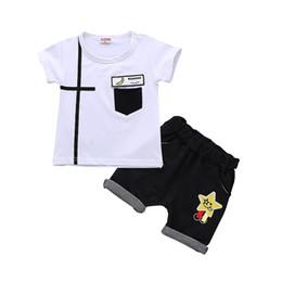 7919318db Chinese Summer Children Boys Girls Leisure Clothing Sets Baby Cartoon  Banana T-shirt Shorts 2Pcs